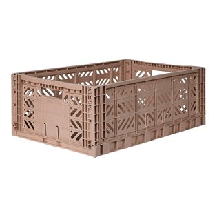 Aykasa Maxi Folding Crate - Warm Taupe
