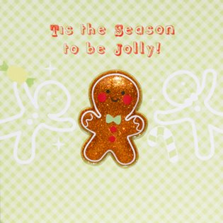 Gingerbread Man- Jelly Moulds Card
