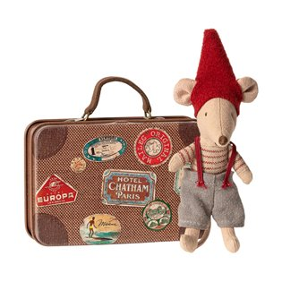 Maileg Christmas Mouse - Little Brother In Suitcase