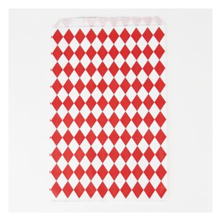 10 Red Diamonds Paper Party Bags