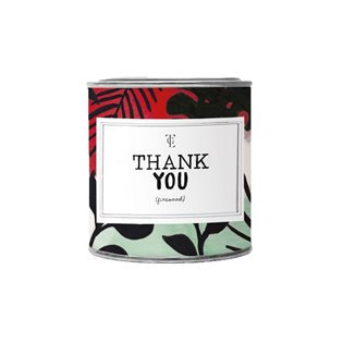 Large Candle Tin - Thank You - Jasmin Vanilla