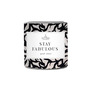 Large Candle Tin - Stay Fabulous - Jasmin Vanilla