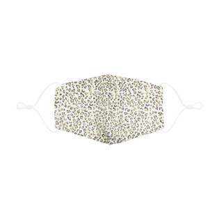 Adult Leopard Print Face Mask - Yellow