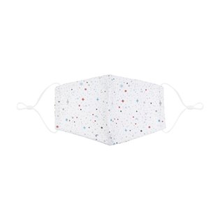 Adult Winter Sky Print Face Mask - White