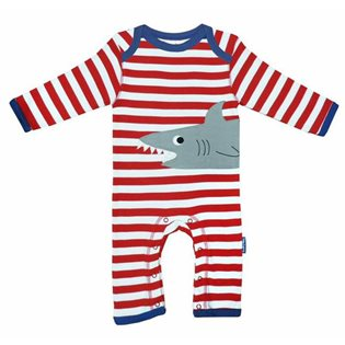 Organic Sleepsuit with Shark Applique