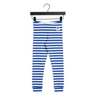 Stripe Rib Leggings - Blue
