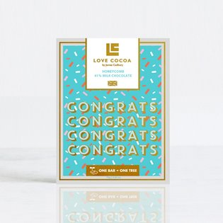 """Congratulations"" Honeycomb Milk Chocolate Bar"