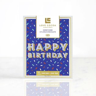 """Happy Birthday"" Honeycomb Milk Chocolate Bar"