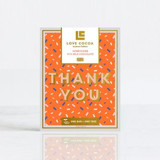 """Thank You"" Honeycomb Milk Chocolate Bar"