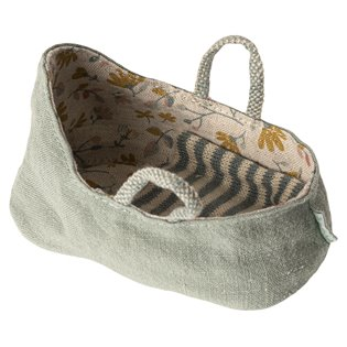 Maileg Mouse Carrycot - My - Dusty Green