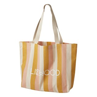 Tote Bag Big - Stripe: Peach/Sandy/Yellow Mellow