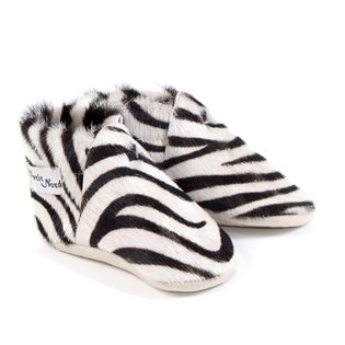 Leather Zebra Baby Shoes