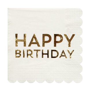 Gold Birthday Large Napkins