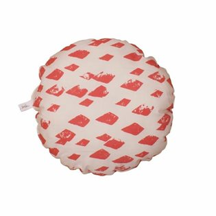 Noe & Zoe Circle Pillow - Flamingo Diamonds