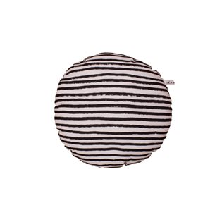Noe & Zoe Circle Pillow - Black Stripes